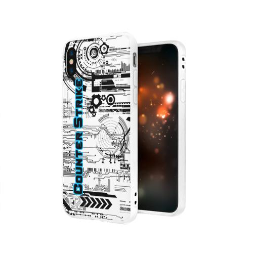 Чехол для Apple iPhone X силиконовый матовый Counter Strike Фото 01