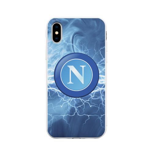 Чехол для Apple iPhone X силиконовый матовый Napoli