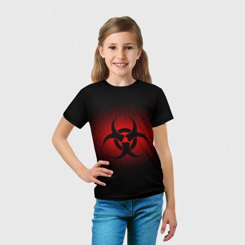 Детская футболка 3D  Фото 03, Биологическая Опасность