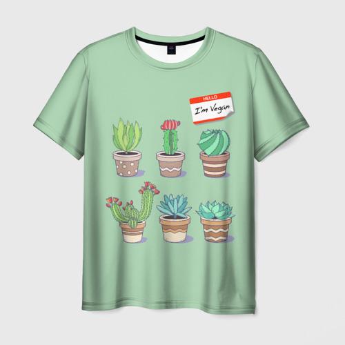 Мужская футболка 3D  Фото 03, Я веган