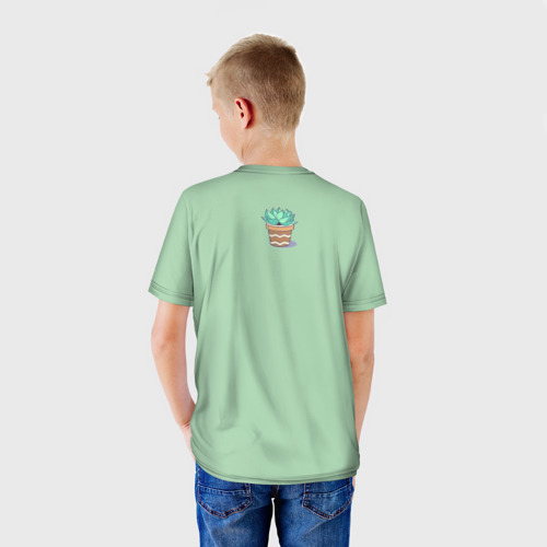 Детская футболка 3D  Фото 02, Я веган