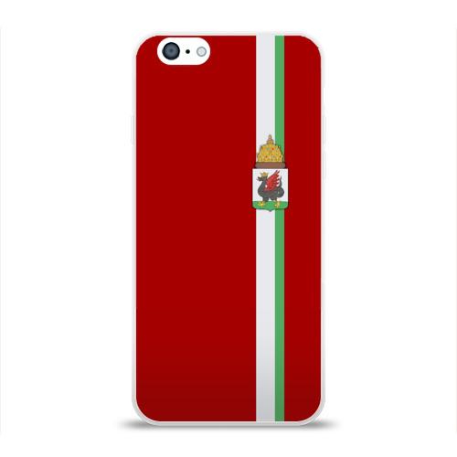 Чехол для Apple iPhone 6 силиконовый глянцевый  Фото 01, Казань, лента с гербом