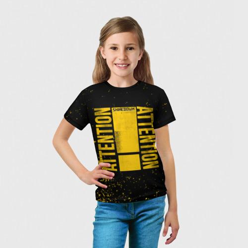 Детская футболка 3D  Фото 03, Attention Attention Black