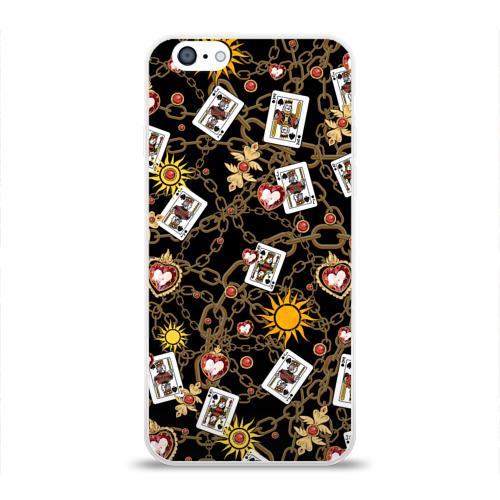 Чехол для Apple iPhone 6 силиконовый глянцевый  Фото 01, Cards, suns, chains