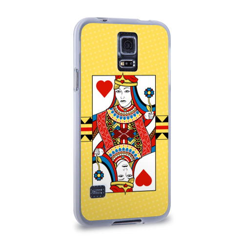 Чехол для Samsung Galaxy S5 силиконовый  Фото 02, Queen of hearts