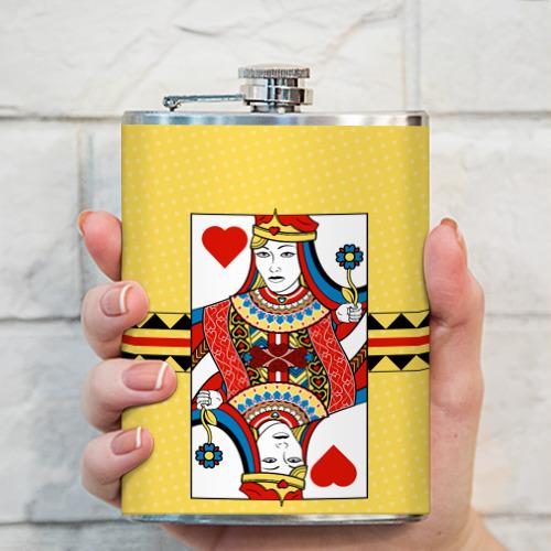 Фляга  Фото 03, Queen of hearts