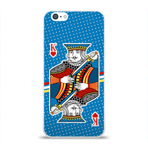 Чехол для Apple iPhone 6 силиконовый глянцевый  Фото 01, The King