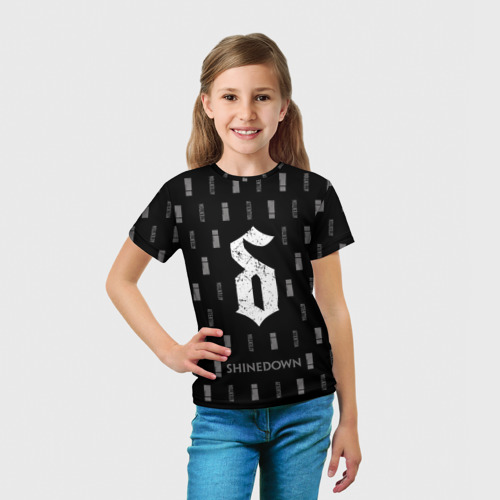 Детская футболка 3D  Фото 03, Attention Pattern