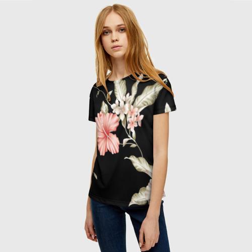 Женская футболка 3D цветок абстракция Фото 01