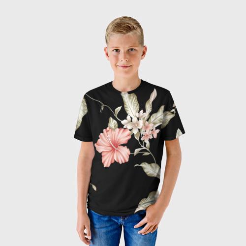 Детская футболка 3D  Фото 01, цветок абстракция