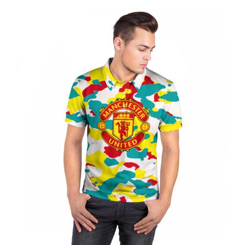 Мужская рубашка поло 3D  Фото 05, Manchester United