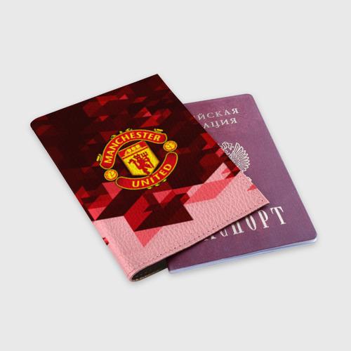 Обложка для паспорта матовая кожа  Фото 03, Manchester United Abstract