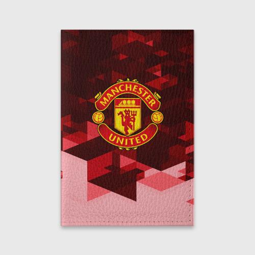 Обложка для паспорта матовая кожа  Фото 01, Manchester United Abstract
