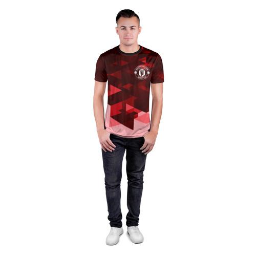 Мужская футболка 3D спортивная Манчестер Юнайтед Фото 01