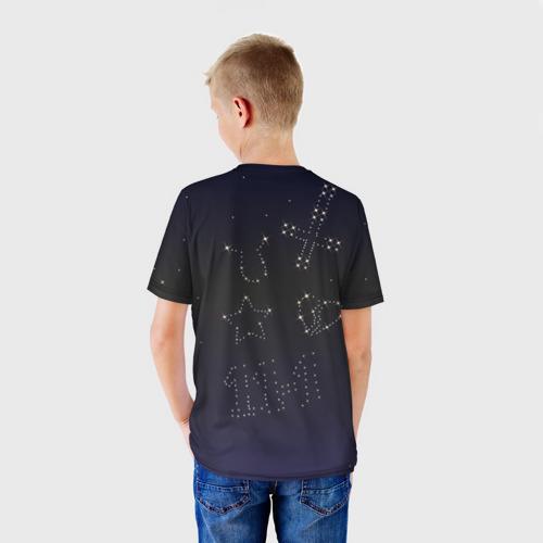 Детская футболка 3D  Фото 02, Тату Лил Пипа звезды на небе