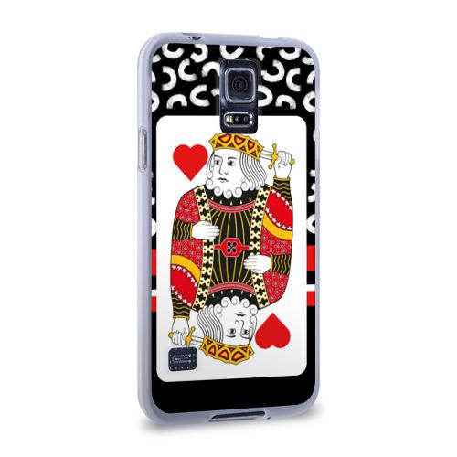 Чехол для Samsung Galaxy S5 силиконовый  Фото 02, King of the hearts
