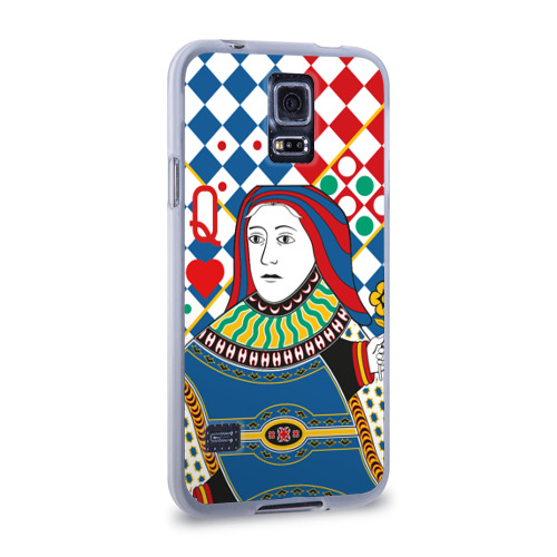 Чехол для Samsung Galaxy S5 силиконовый  Фото 02, Red Queen Geometry