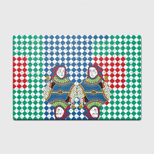 Пазл магнитный 126 элементов Red Queen white blue green Фото 01