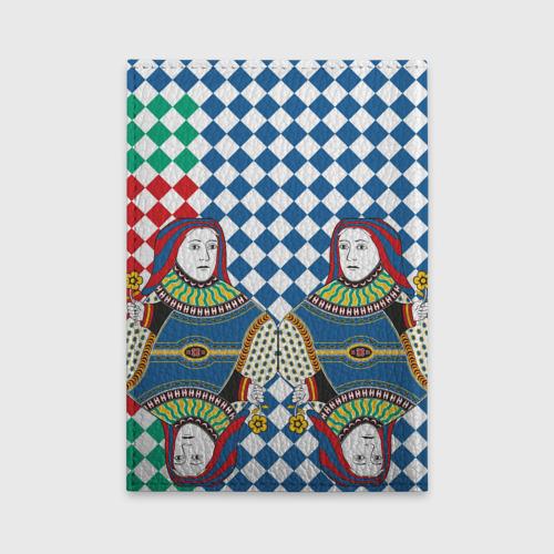 Обложка для автодокументов Red Queen white blue green Фото 01
