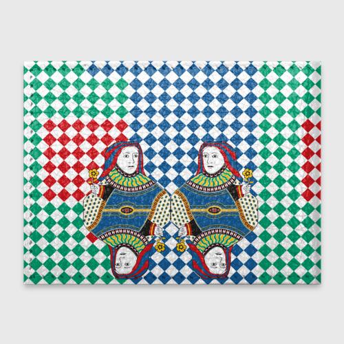 Обложка для студенческого билета Red Queen white blue green Фото 01