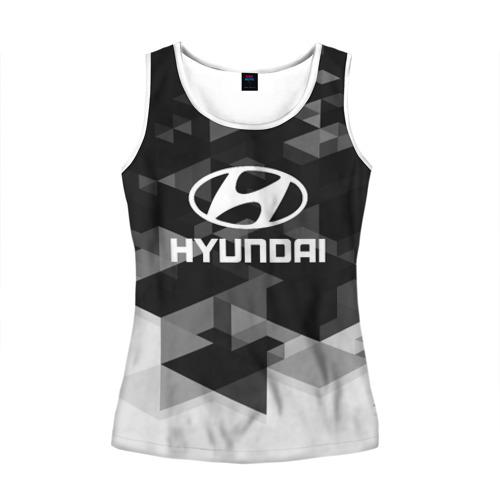 Женская майка 3D  Фото 01, Hyundai sport geometry