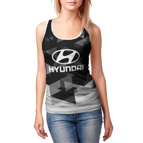 Женская майка 3D  Фото 03, Hyundai sport geometry