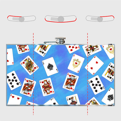 Фляга  Фото 05, Cards Blue pattern