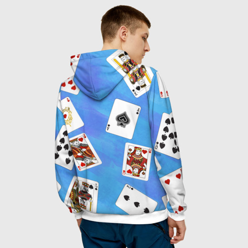 Мужская толстовка 3D  Фото 04, Cards Blue pattern
