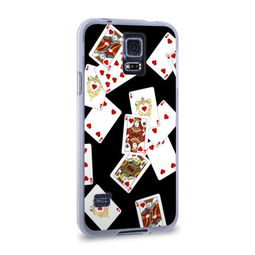 Чехол для Samsung Galaxy S5 силиконовый  Фото 02, Cards dark pattern