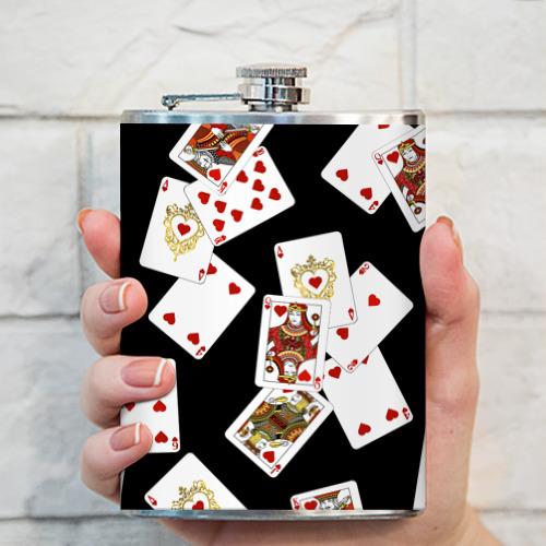 Фляга  Фото 03, Cards dark pattern