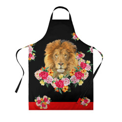 Lion with flowers