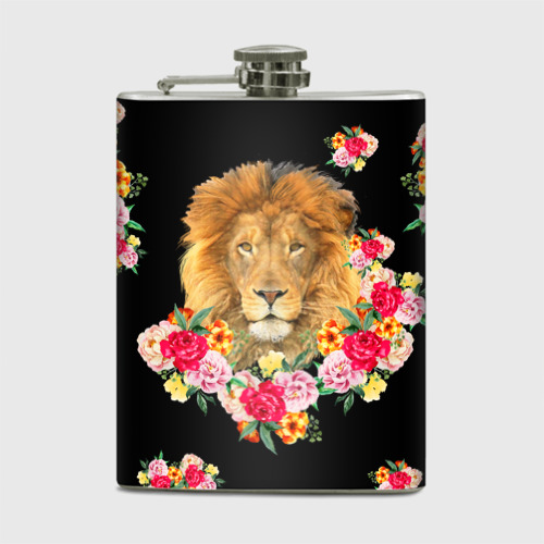 Лев и розы