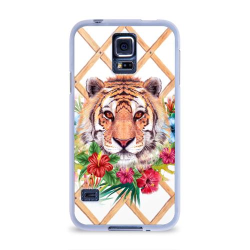 Чехол для Samsung Galaxy S5 силиконовый  Фото 01, Wild Tiger