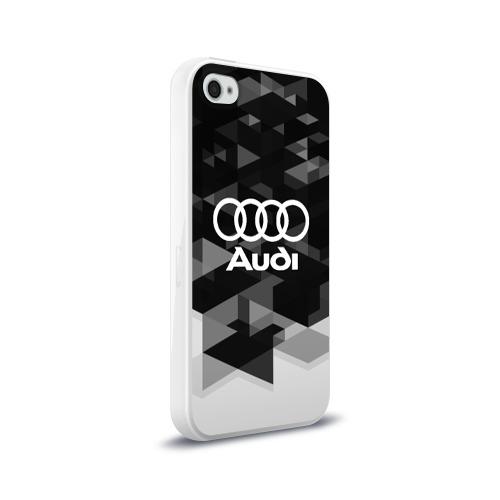 Чехол для Apple iPhone 4/4S силиконовый глянцевый  Фото 02, Audi sport geometry