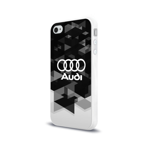 Чехол для Apple iPhone 4/4S силиконовый глянцевый  Фото 03, Audi sport geometry