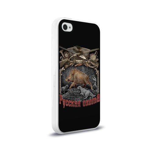 Чехол для Apple iPhone 4/4S силиконовый глянцевый  Фото 02, Русская охота