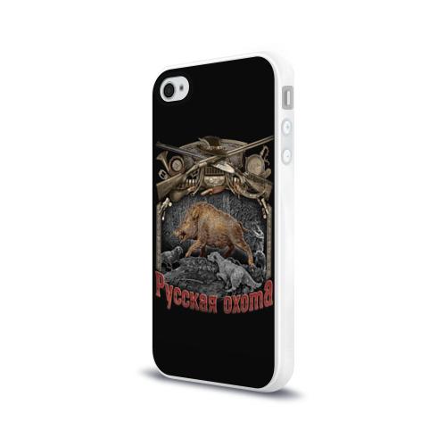 Чехол для Apple iPhone 4/4S силиконовый глянцевый  Фото 03, Русская охота