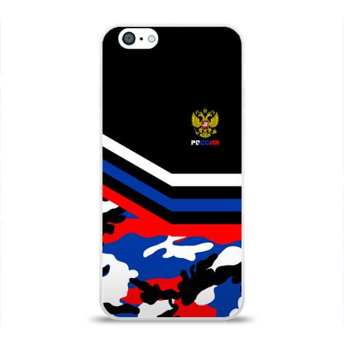 Чехол для Apple iPhone 6 силиконовый глянцевый  Фото 01, Камуфляж Россия