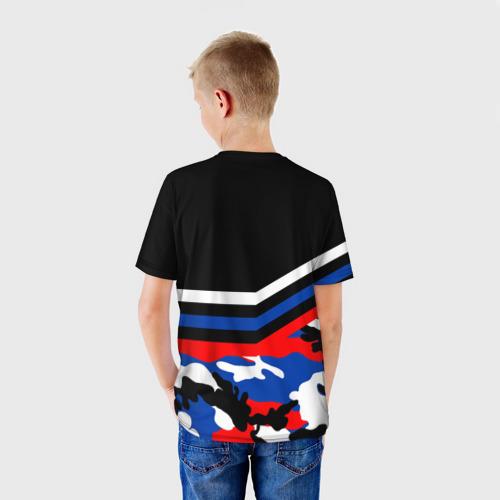 Детская футболка 3D  Фото 02, Камуфляж Россия