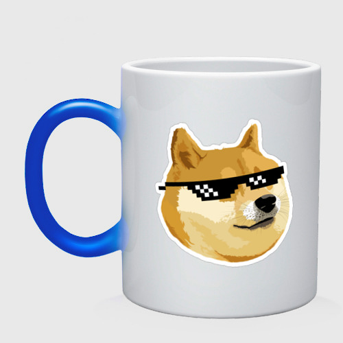 Doge мем в deal with it очках