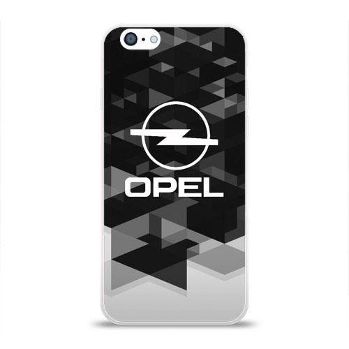 Чехол для Apple iPhone 6 силиконовый глянцевый  Фото 01, Opel sport geometry