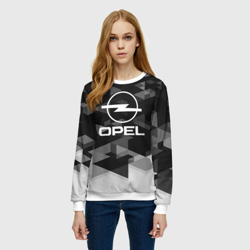 Женский свитшот 3D Opel sport geometry Фото 01