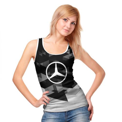 Женская майка 3D  Фото 05, Mercedes sport geometry