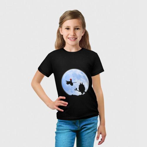 Детская футболка 3D  Фото 03, Totoro and the moon