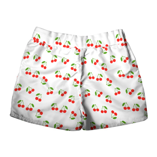 Женские шорты 3D  Фото 02, Cherry