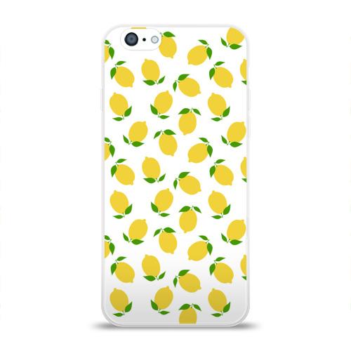 Чехол для Apple iPhone 6 силиконовый глянцевый  Фото 01, Лимоны