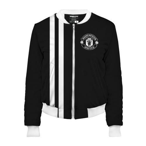 Женский бомбер 3D Manchester United Black&White