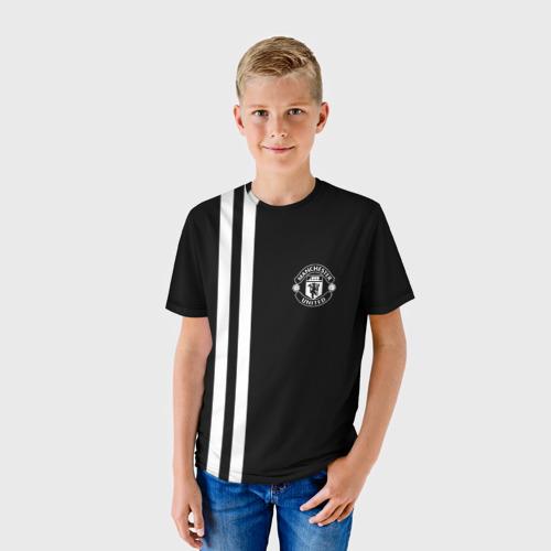 Детская футболка 3D Manchester United Black&White