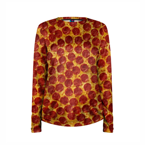 Женский лонгслив 3D для беременных  Фото 03, Пицца пепперони