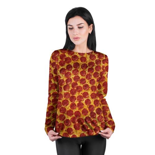 Женский лонгслив 3D для беременных  Фото 04, Пицца пепперони
